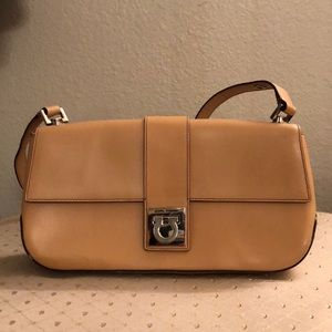 Salvatore Ferragamo natural tan leather purse